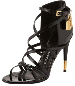 Tom Ford Black Leather Strappy Sandals