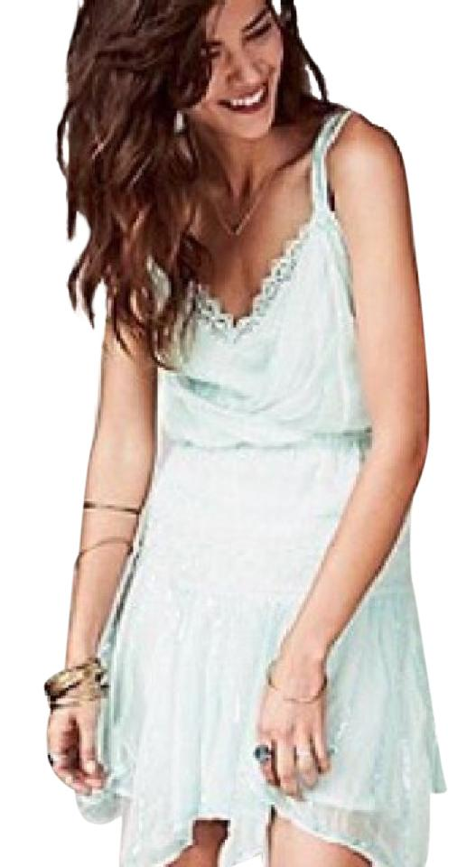 Free People Pastel Mint Green F056y758 Short Casual Dress Size 4 (S ...