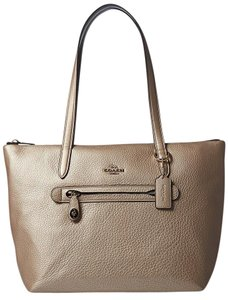 Coach Taylor Leather Tote in Platinum