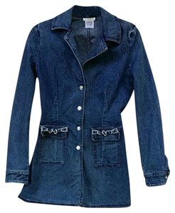 St. John blue Womens Jean Jacket