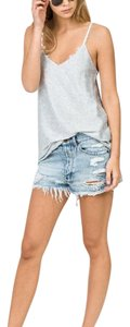 Ksubi Distressed Cut Off Shorts Light Blue