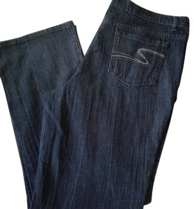 Liz & Co. Relaxed Fit Jeans-Dark Rinse