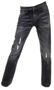 Gucci Distressed Ripped Straight Leg Jeans-Distressed