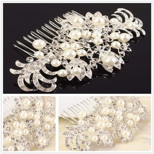 New Pearl Vintage Flower Hair Comb Bridal Jewelry