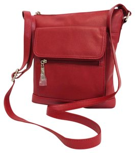 Giani Bernini Leather Nappa Top Zip Cross Body Bag