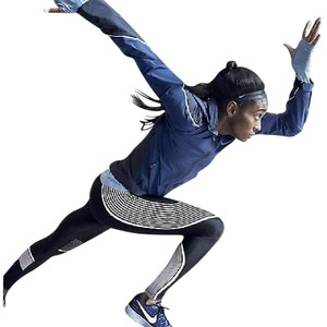 Nike POWER SPEED FLASH RUNNING TIGHTS BLACK & REFLECTIVE SILVER L