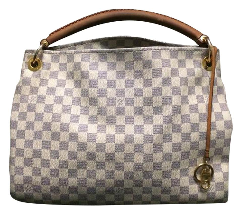 be92015a7a80 Louis Vuitton Artsy Mm Damier Azur Cream Canvas Hobo Bag - Tradesy