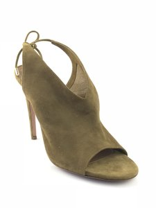 Aquazzura Back Toe Olive Sandals