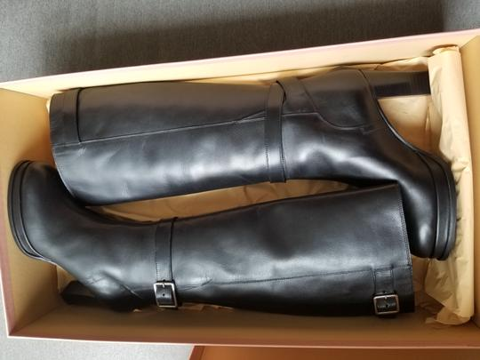 Acne Studios Knee High Leather Black Boots Image 3