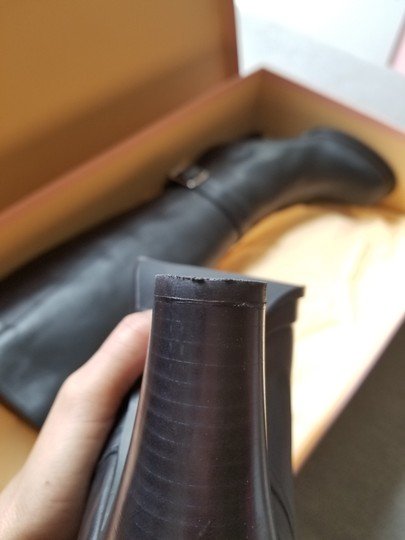Acne Studios Knee High Leather Black Boots Image 8