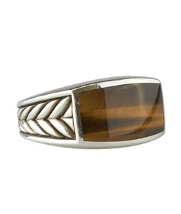 David Yurman David Yurman 925 Tiger's Eye 18mm Ringx Size 10 (125635)