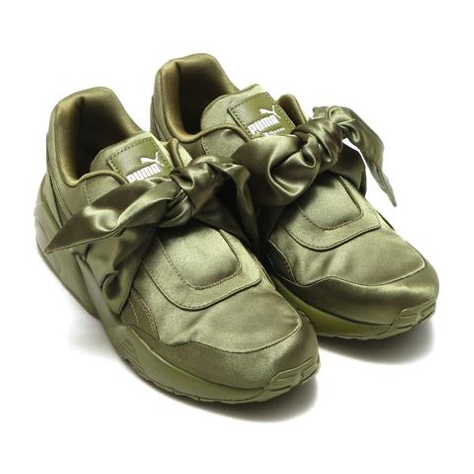 newest d4906 f0cf1 Olive Green Bow Sneakers