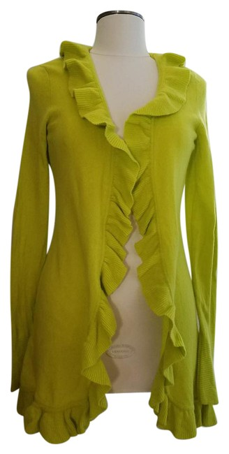 Preload https://img-static.tradesy.com/item/21482591/magaschoni-lime-green-cashmere-cardigan-size-8-m-0-1-650-650.jpg