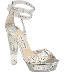Jimmy Choo Platform Niagara METALLIC Sandals