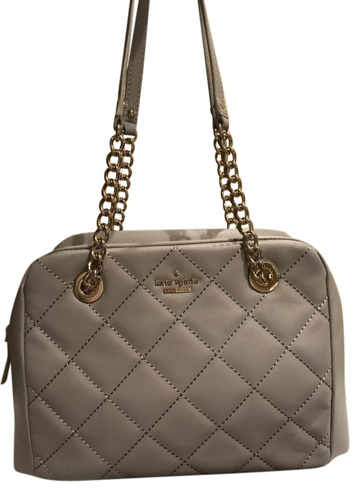 Kate Spade Emerson Place Tote Satchel Handbag Purse Gray Quilted