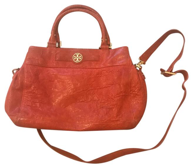 Item - Traditional Orange Pebbled Leather Satchel
