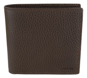 Gucci GUCCI 150413 Men's Leather Bifold Wallet, Grey