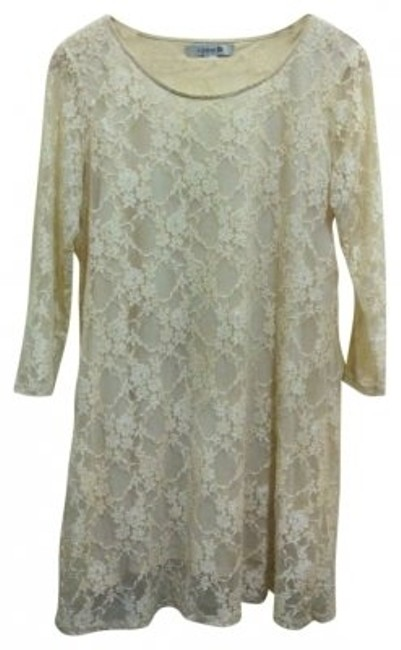 Preload https://img-static.tradesy.com/item/21483/forever-21-creme-lace-mid-length-short-casual-dress-size-12-l-0-0-650-650.jpg