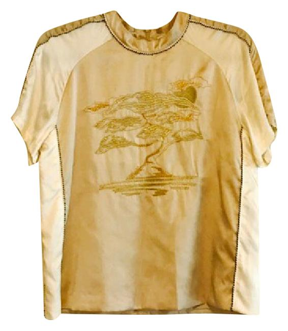Item - Champagne A Balance Between Classic and Hippy Tunic Size 6 (S)