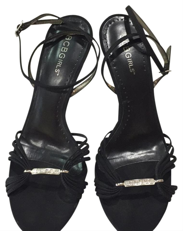 6a0ce91bf2 BCBGeneration Black Satin with Silver Buckle Include Rhinestone Bicbg  Formal Shoes