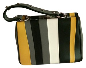 Prada Satchel in yellow, black grey and white