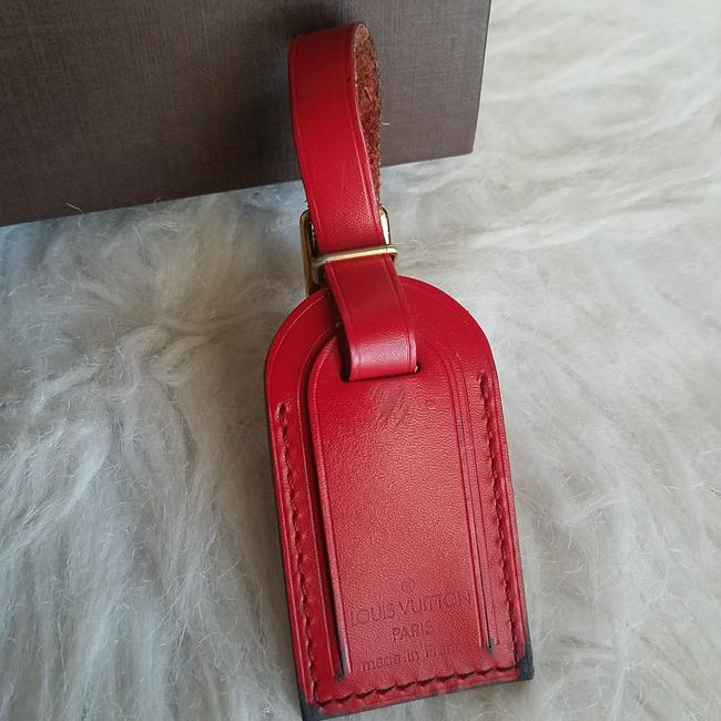 Louis Vuitton Red Luggage Name Tag Pm Small Size Louis Vuitton Red Luggage Name Tag Pm Small Size Image 1