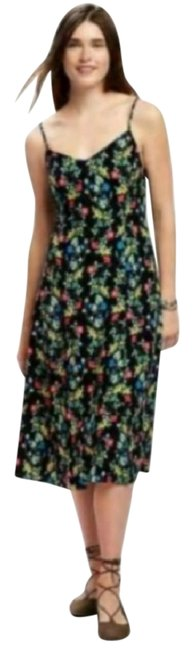 Item - Black Fit and Flare Cami Mid-length Casual Maxi Dress Size 12 (L)