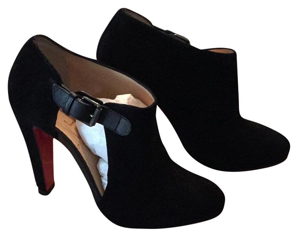 b223d7c1145 Christian Louboutin Black New Seferme 100 Veau Velours/Calf Boots/Booties  Size US 6 Regular (M, B) 24% off retail