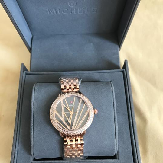 Michele $3200 NWT ' Serein 16' Mid City Lights Rose Gold Diamond MWW21B000113