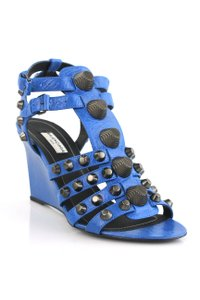 Balenciaga Bright Blue Wedges