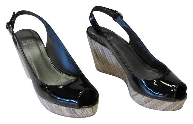 Item - Black Neutral Patent Leather Padded Footbed Very Good Condition Wedges Size US 6 Narrow (Aa, N)