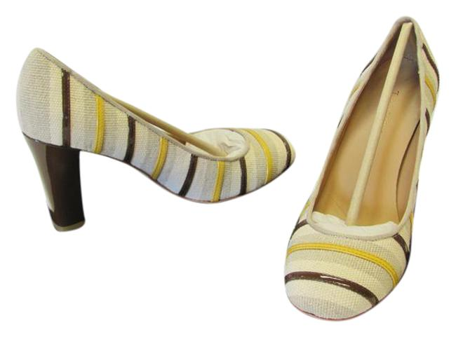 Item - Neutral Brown Yellow Padded Footbed Leather Soles Excellent Condition Pumps Size US 6 Regular (M, B)