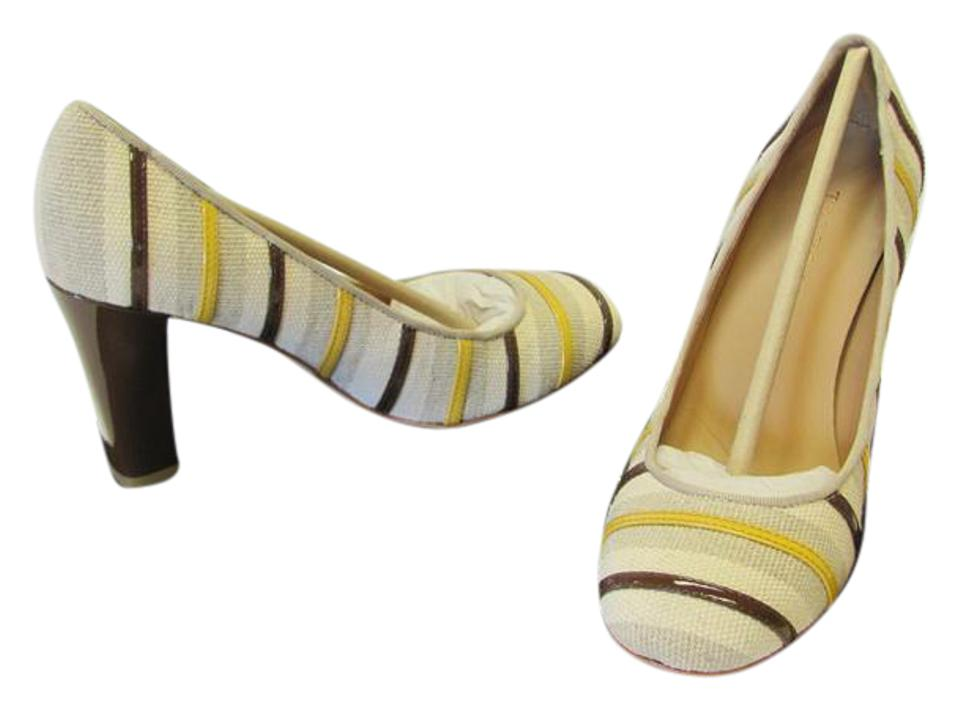 Talbots Neutral Brown Soles Yellow Padded Footbed Leather Soles Brown Excellent Condition Pumps dd2d0a