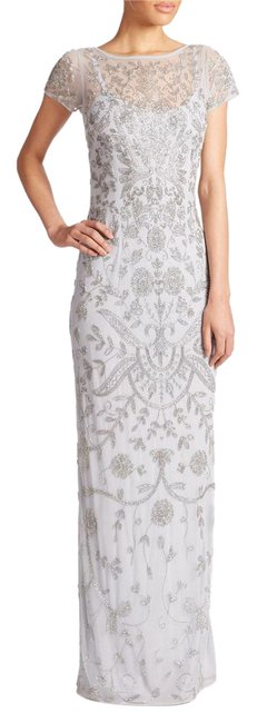 Item - Blue/Grey Beaded Gown Long Formal Dress Size 8 (M)