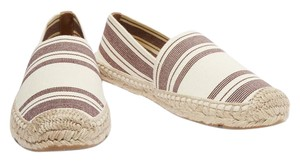 Tory Burch Casual Round Toe Slip On Ivory Flats