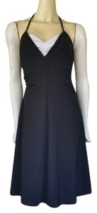Phoebe Couture short dress Black Top Halter Ruched on Tradesy