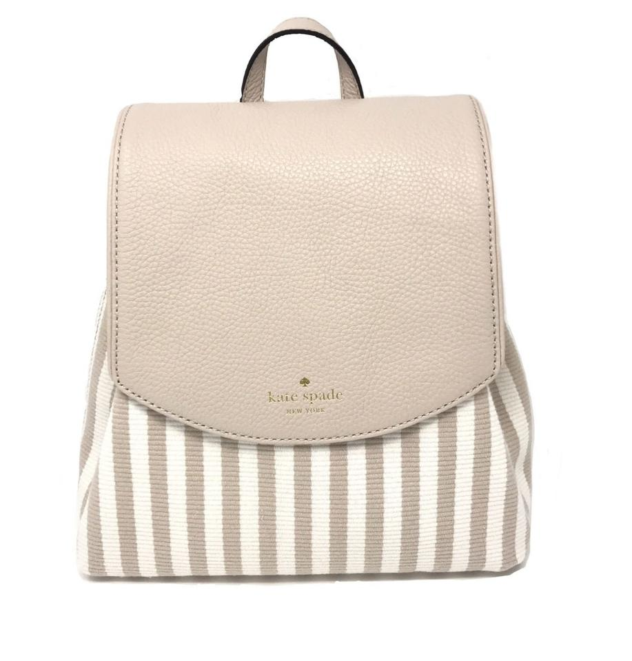 bd145083368c Kate Spade Small Breezy Mulberry Street Pumice Fabric White Beige ...