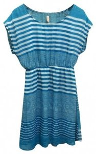 Other short dress Turquoise and White Stripe on Tradesy