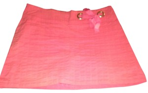 Lilly Pulitzer Pink Miini Stretch Fabric Casual Beach Summer Pink Mini Mini Skirt