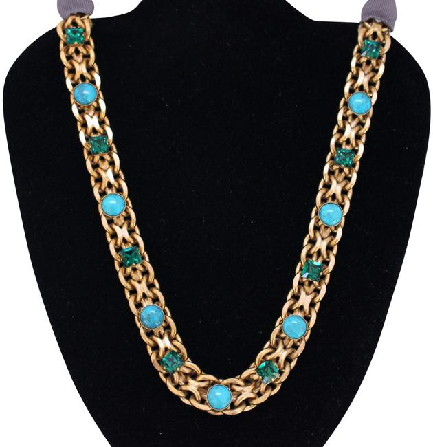 Item - Turquoise New -paris / Emerald Made In France Gold Necklace