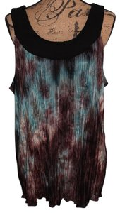 Brittany Black Top Tie dyed