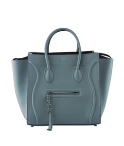 Cline Leather Tote in Blue