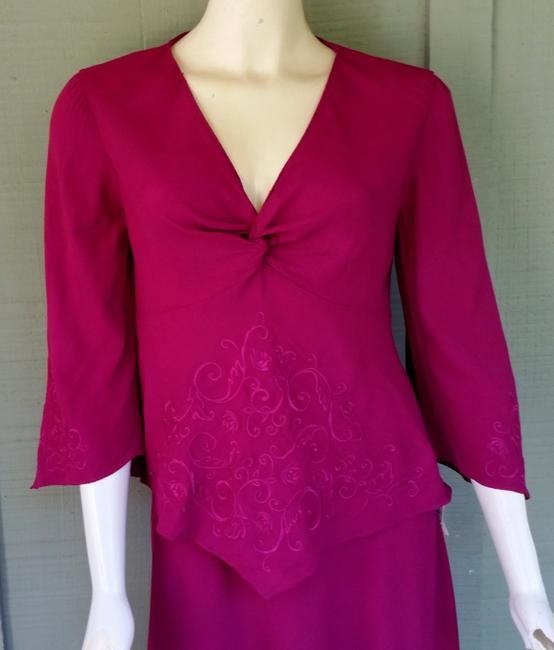 Other short dress Magenta Handkerchief Hem Embroidered 2 Piece Set Outfit on Tradesy Image 1