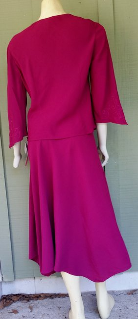 Other short dress Magenta Handkerchief Hem Embroidered 2 Piece Set Outfit on Tradesy