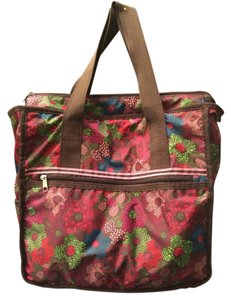 Merona Tote in multi-colored dot floral print-