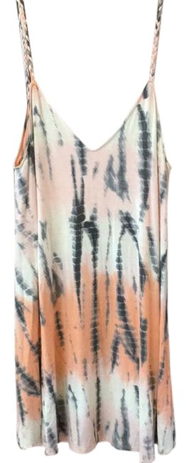 Item - Pink Blue Tie Dye Strappy Short Casual Dress Size 4 (S)