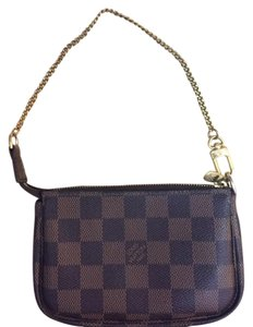 c8d9c8a1c Louis Vuitton Brown Pochette Accessoires Mini Damier Ebene Wallet ...