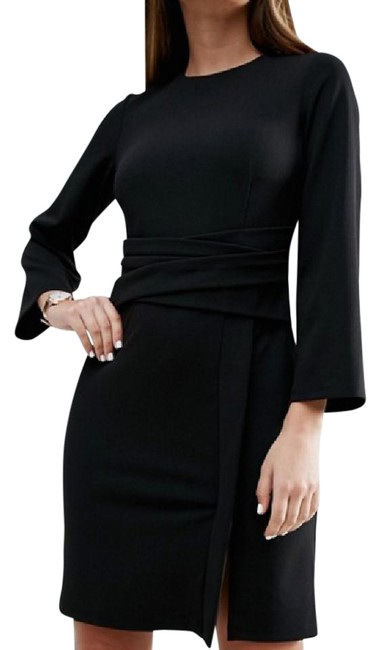 Preload https://img-static.tradesy.com/item/21486097/asos-black-wrap-skirt-flute-sleeve-mini-short-casual-dress-size-6-s-0-1-650-650.jpg