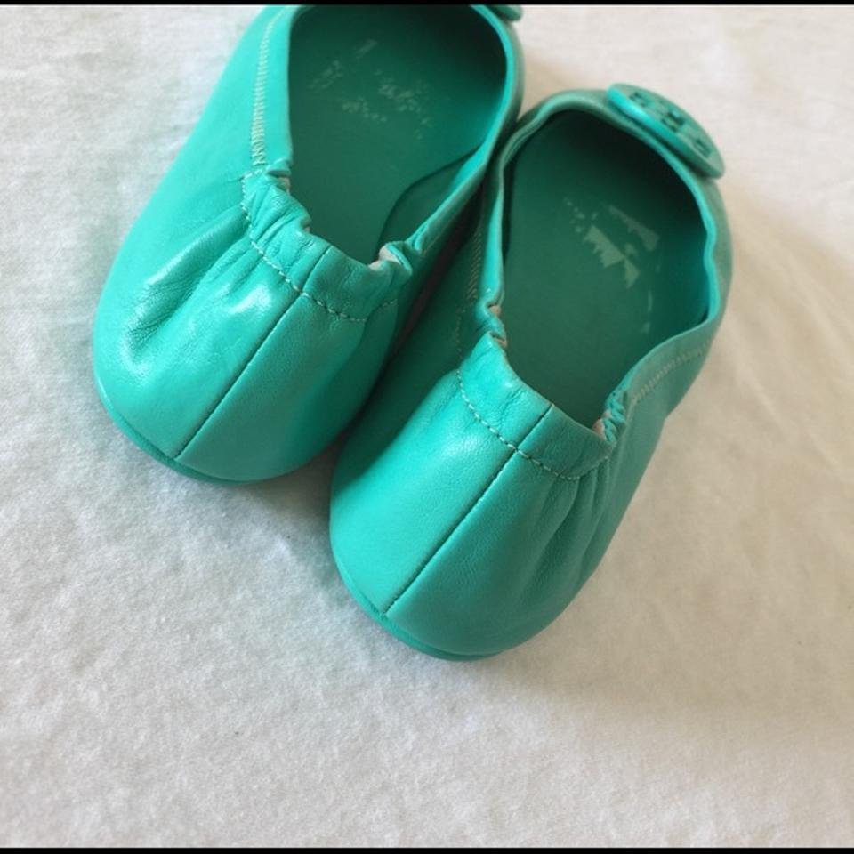 77b5196fefe6 Tory Burch Minnie Travel Biscayne Ballet Size 6 Green Flats Image 3. 1234