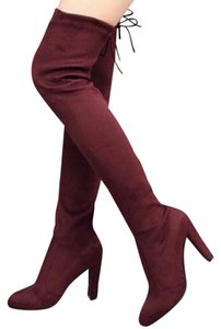 Lilac Clothing Burgundy Boots
